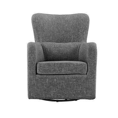 Bibbs Modern Linen Swivel Armchair Upholstery: Dark Gray