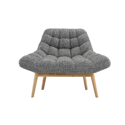 Wilcoxen Modern Plush Lounge Chair Upholstery: Light Gray
