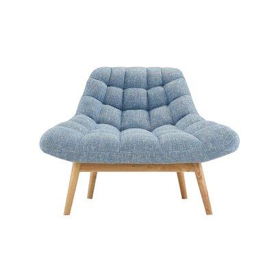 Wilcoxen Modern Plush Lounge Chair Upholstery: Light Blue