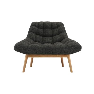 Wilcoxen Modern Plush Lounge Chair Upholstery: Dark Gray