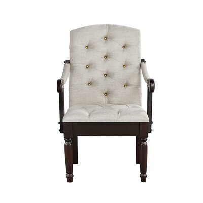 Diamondback Traditional Upholstered Dining Chair Upholstery: Beige