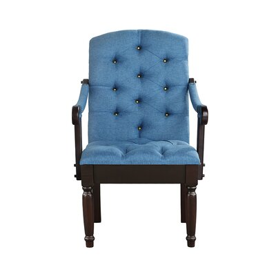 Diamondback Traditional Upholstered Dining Chair Upholstery: Blue