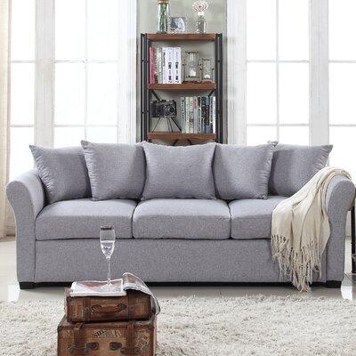 Fyffe Linen Sofa Upholstery: Gray