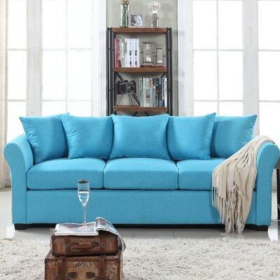 Fyffe Linen Sofa Upholstery: Blue