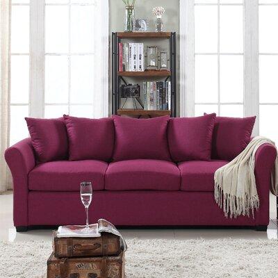 Fyffe Linen Sofa Upholstery: Purple