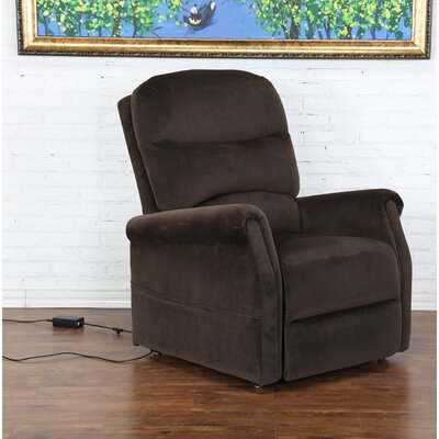 Classic Power Lift Assist Recliner Color: Brown