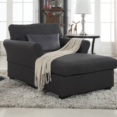 Champaign Chaise Lounge Upholstery: Dark Gray