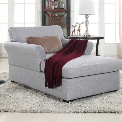 Champaign Chaise Lounge Upholstery: Light Gray