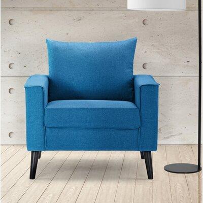 Port Pirie Linen Armchair Upholstery: Sky Blue