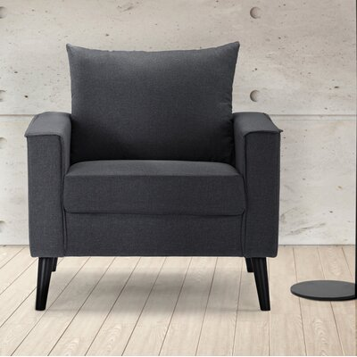 Port Pirie Linen Armchair Upholstery: Dark Gray