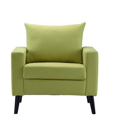 Port Pirie Linen Armchair Upholstery: Lime Green