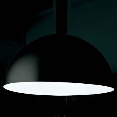Avico Suspension Light Shade Color: Black Extrenal / White Internal, Size: 189 H x 63 W x 63 D