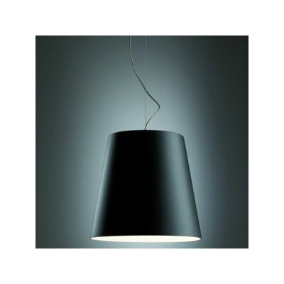 Amax Drum Pendant Size: 144 H x 32.3 W x 32.3 D, Shade Color: Black Extrenal / White Internal