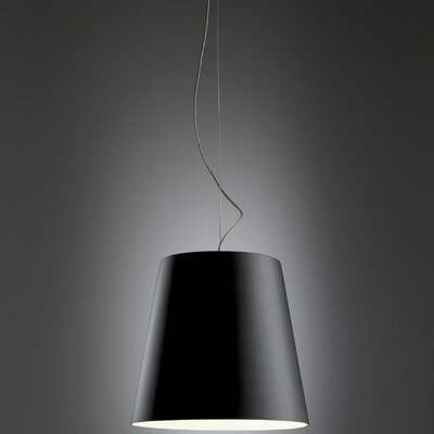Amax Pendant Size: 11.3 H x 12.5 W, Finish: Black and White