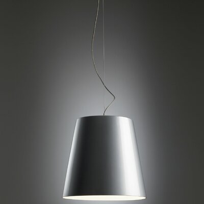 Amax Pendant Size: 11.3 H x 12.5 W, Finish: Grey with White