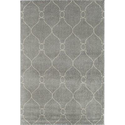 Hudson Jepson Platinum Hand Woven Gray Area Rug Rug Size: 2 x 211