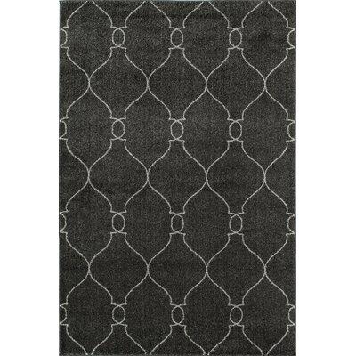 Hudson Midnight Hand Woven Gray Area Rug Rug Size: 710 x 1010