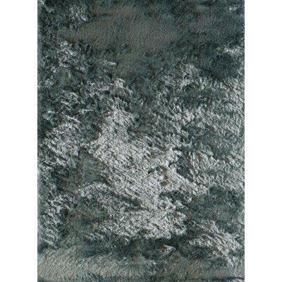 Luster Light Blue Powder Shag Rug Rug Size: 23 x 76