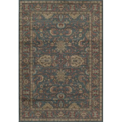 Michael Traditional Beige/Blue Area Rug Rug Size: Rectangle 5 x 7