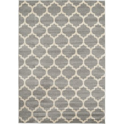 Brooklyn Gray/Ivory Area Rug Rug Size: 53 x 710
