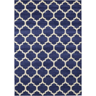 Brooklyn Navy/Ivory Area Rug Rug Size: 710 x 1010