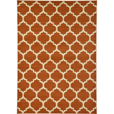 Brooklyn Terra Cotta/Ivory Area Rug Rug Size: 2 x 211