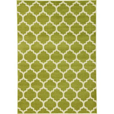 Brooklyn Green/Ivory Area Rug Rug Size: 710 x 1010
