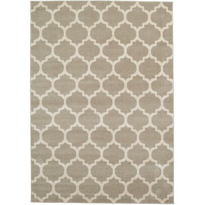 Brooklyn Tan/Ivory Area Rug Rug Size: 53 x 710
