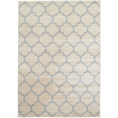 Brooklyn Ivory/Gray Area Rug Rug Size: 710 x 1010