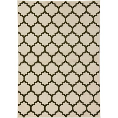Brooklyn Ivory/Black Area Rug Rug Size: 2 x 211