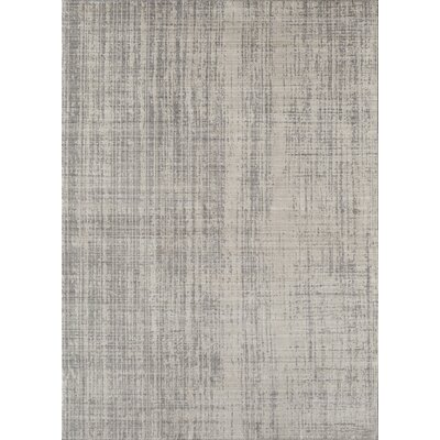 Asteria Phoebe Champagne Ivory/Gray Area Rug Size: 2 x 3