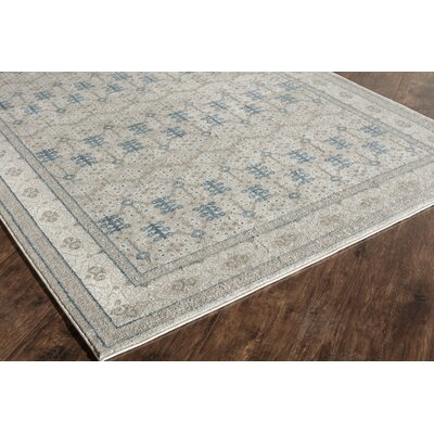 Estelle Ivory/Gray Area Rug Rug Size: 2 x 3