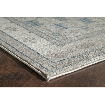 Estelle Ivory/Gray Area Rug Rug Size: Runner 2'2