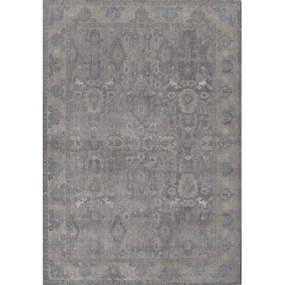 Estelle Thespian Slate Gray/Ivory Area Rug Rug Size: 4 x 57
