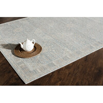 Carter Blue/Gray Area Rug Rug Size: 8 x 10