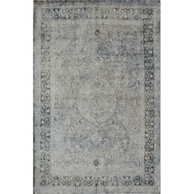 Cambridge Tan/Blue Area Rug Rug Size: 5 x 8
