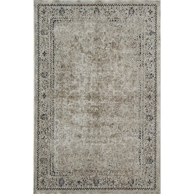 Cambridge Cream/Black Area Rug Rug Size: 2 x 4