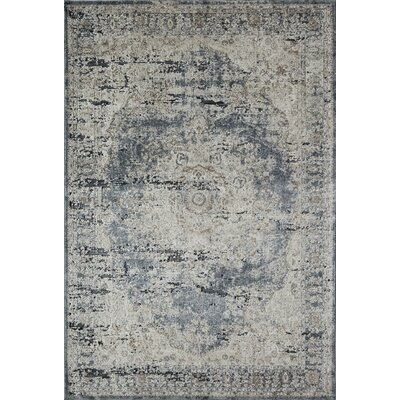Cambridge Blue/Tan Area Rug Rug Size: 2 x 4