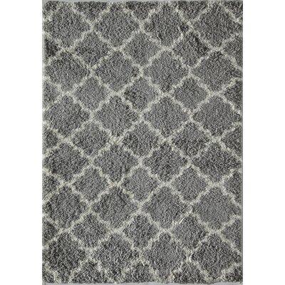 Aubrey Quatrefoil Ivory/Gray Area Rug Rug Size: 2 x 4