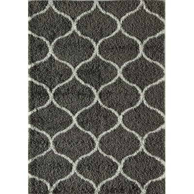 Una Links Charcoal/Ivory Area Rug Rug Size: 2 x 4