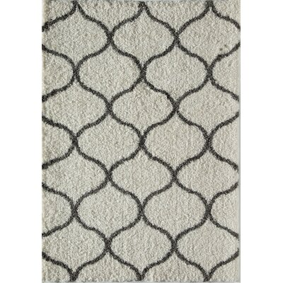 Loopla Links Ivory/Charcoal Area Rug Rug Size: 5 x 8