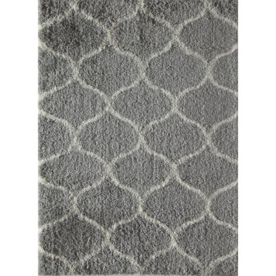 Modom Shag Links Gray/Ivory Area Rug Rug Size: 8 x 10