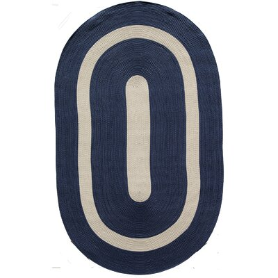 Plymouth Navy Area Rug Rug Size: Oval 4 x 6