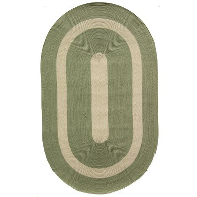 Plymouth Light Green Area Rug Rug Size: Oval 2 x 3