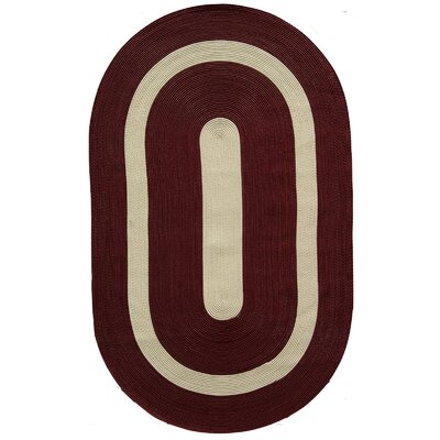 Plymouth Burgundy Area Rug Rug Size: Oval 2 x 3