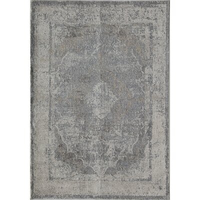 Gisele Madelyn Gray/Light Blue Area Rug Rug Size: 5 x 8