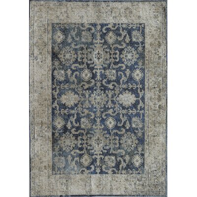Bedford Long Beach Navy/Tan Area Rug Rug Size: 8 x 10