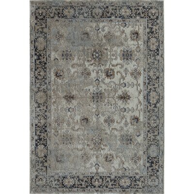 Bedford Ivory/Navy Area Rug Rug Size: 2 x 4