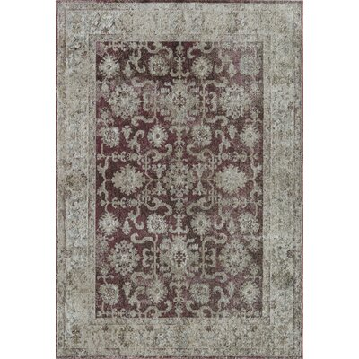 Bedford Winchester Red/Ivory Area Rug Rug Size: 2 x 4