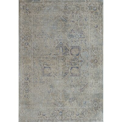 Bedford Light Blue/Ivory Area Rug Rug Size: 2 x 4